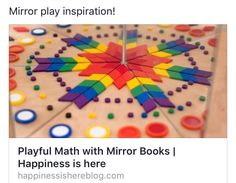 Young children are capable of understanding complex math concepts but are rarely given the chance. Create a simple mirror book to encourage playful math. Kindergarten Activities, Teaching Math, Preschool Activities, Maths, Making Paper Snowflakes, Creative Box, Inspired Learning, Math About Me, Mirror Box