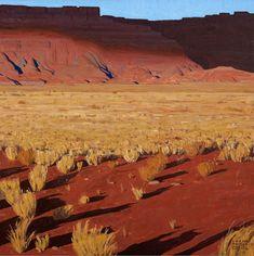 Logan Maxwell Hagege, Cloud Shadows on the Wall, oil, 50 x - Southwest Art Magazine Western Landscape, Landscape Art, Landscape Paintings, Landscapes, Maynard Dixon, Rpg Map, Desert Art, Digital Museum, Southwest Art