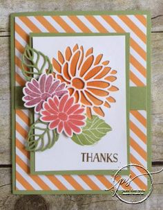 Do you think it's time for spring? I do! In Wisconsin - we're always ready for spring! Isn't this card beautiful and just dripping with SPRING thoughts? The Special Reason Bundle is responsible for al