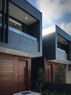 Completed project- dual occupancy homes. Full height glazing panels to the entry area open up the hallway to the garden and flood the centre of the plan with natural light.  # dual occupancy # dual occ # duplex # contemporary homes # contemporary # luxury homes # luxury duplex # luxury dual occupancy # inside out living # designer living # matrix cladding # sydney # australia # architecture
