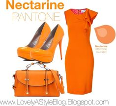 NECTARINE: Well, the outfits are IN! We love the new colors PANTONE has released for Spring 2013, so we put together a few monochromatic looks surrounding the hues. Enjoy!