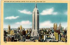 Vintage New York City Postcard  The Empire State by VintagePlum
