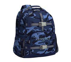 Mackenzie Navy Camo Backpacks | Pottery Barn Kids