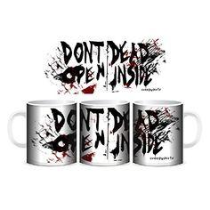 Creepyshirt - THE WALKING DEAD INSPIRED - DON'T OPEN DEAD INSIDE MUG