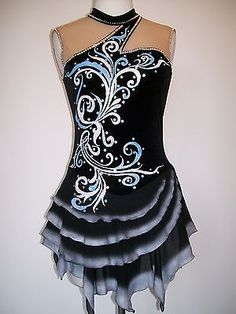 Custom Made New Ice Skating Baton Twirling Dress | eBay