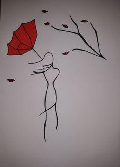 Yaprak ağaçtan düşünce, rüzgârın oyuncağı olurmuş.  #drawing Easy Drawings, Pencil Drawings, Kawaii Illustration, Nature Drawing, Art N Craft, Stone Painting, Rock Art, Art Blog, New Art