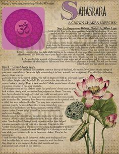The Seventh Chakra (Sahasrara / Crown Chakra / thousand-petalled lotus) Chakra Meditation, Chakra Healing, Meditation Music, Reiki, Second Chakra, Chakra System, Chakra Crystals, Crown Chakra, Tantra
