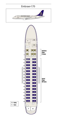 United Airlines Boeing  Jet Seating Map Aircraft Chart