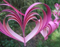 Guirlandes de paon de cœur. 10 coeurs. Mariage par TreeTownPaper