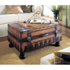 Image detail for -Butler Heritage Trunk Table with Old World Map Surface: Furniture ...