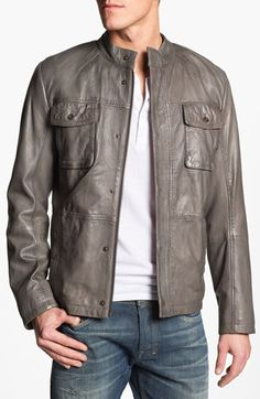 BOSS leather jacket.