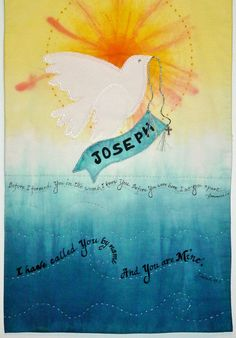Baptismal Banner | Rit Dye Fabric Dyeing