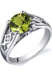 Peridot Tear Drop Ring Sterling Silver Rhodium Nickel Finish 1.75 Carats Sizes 5 to 9 from $35.99 by Amazon BESTSELLERS