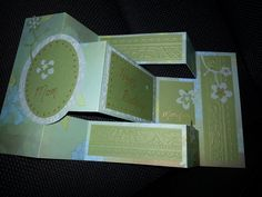 Birthday Card using the shutter fold, made without a die.