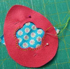 Hope & Gloria: Reverse Applique - Floral Fabric EAster Egg - Tutorial Number 3 Reverse Applique, Felt Embroidery, Number 3, Floral Fabric, Fiber Art, Easter Eggs, Bunnies, Quilts, Sewing