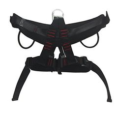 Climbing Harness Protect Waist Leg Wider Safe Belt for Mountaineering High Altitude Work Rappelling Equipment Safety Harness Black -- Check out this great product.