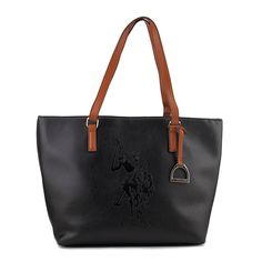 06855d09eb Details about US Polo Assn Lia Tote Women Black Tote