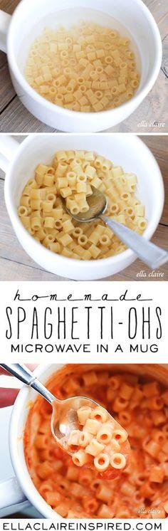 Homemade Microwave Spaghetti-ohs in a Mug | Single-Serve | {Ella Claire} | Bloglovin'