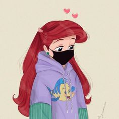 Disney Princess wears face masks - cute art and profile pictures