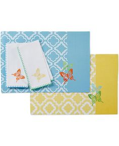 Lenox Butterfly Meadow Embroidered Butterfly Trellis Napkin - Table Linens - Dining & Entertaining - Macy's