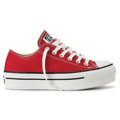 Different Types Of Sneakers Converse All Star, Red Converse, Converse Sneakers, Vans Shoes, Platform Converse, Red Platform, Platform Shoes, Ropa Punk Rock, Zapatillas All Star