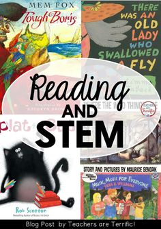 STEM for First Grade! The post includes five ideas with books as the inspiration for STEM projects. Includes details and materials lists!