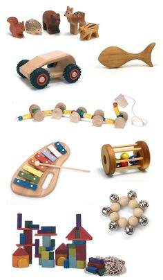 here's hoping people think to buy us gorgeous wooden toys like these, rather than the terrible plasticy kind.