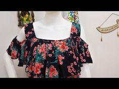 تفصيل وخياطة قندورة دار كول باتو /كلوش /سهلة ومريحة😊 للعيد💕 - جزء الفصالة - YouTube Cotton Gowns, Profile Pictures Instagram, Sewing Clothes, Blouse Designs, Floral Tops, Arabic Food, Fashion Outfits, Kurtis, Dressmaking