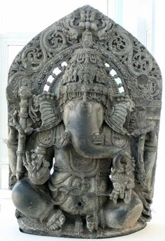 Seated Ganesha India 12-13Th century Karnataka state Asian Art Museum  San Francisco