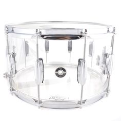 Q Drum Co. 8x14 Cast Acrylic Snare Drum Clear w/Triple Flange Hoops