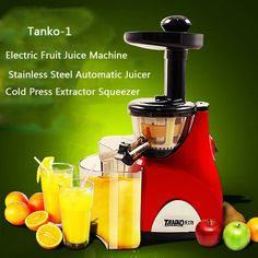 (69.96$)  Buy here - http://ai0y2.worlditems.win/all/product.php?id=32723196023 - 2016 Stainless Steel Automatic Slow Juicer Electric Fruit Juice Machine Cold Press Extractor Squeezer Home use Tanko-1