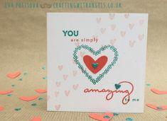 Card made using Stam[in' Up! Amazing You and Heart Happines  sets, as a thank you for wearing a green heart for the climate coalition #showthelove  Crafting With Angels