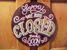 Enseigne métal Vintage Sorry we are closed par JudahWasGood sur Etsy