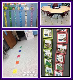 Color code schedules, visuals of where to sit, where to stand as a way to make it easier to find the right materials for students' behavior plans.