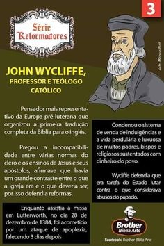 John Wycliffe - Berlin, Streets named after philosohers - Carreira Reformed Theology, Street Names, Jesus Freak, Reformation, Bible Verses, Catholic, Berlin, Brother, Religion