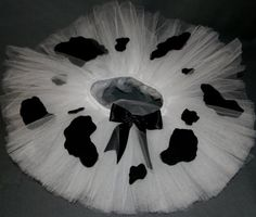 Cow Print Tutu! Perfect for the Chick-fil-a 5K!