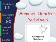 Lesson Plan - Prevent Summer Slide! This Summer Reader's Notebook will ensure that your students are busy reading all summer! The notebook focuses on reading comprehension strategies and includes material for readers in going into 2-5th grade. #preventsummerslide #summerreading