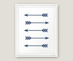 Navy arrows Deep blue print Boho print Arrows by MoonlightPrint