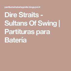 Dire Straits - Sultans Of Swing   Partituras para Batería