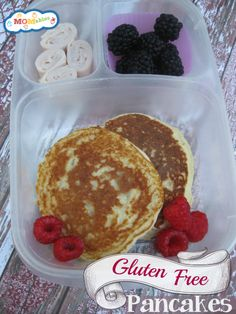Gluten Free Pancakes Recipe: used Trader Joes flour.. Fluffy and delicious!!