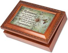 Cottage Garden Retirement Woodgrain Music Box / Jewelry Box Plays Wonderful World ** Check out the image by visiting the link.