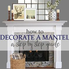 Need some help decorating your mantel? Stop by the blog today to see how I decorate our mantel step by step. #meadowlakeroad #manteldecorating #mantel #ontheblog #homedecor