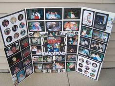 graduation photo board party ideas | Here's the photo display board I made for Tyler's graduation party.