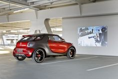 This Smart Car comes with its own drive-in theater.