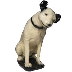 "RCA Nipper Dog  American  circa 1920  ""His Master's Voice"" plaster composite of the famous dog"