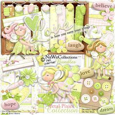 Digital scrapbooking fairy and card making fairy kit.  Flower fairies, in case the bees don't come this year. FQB - Petal Pixies