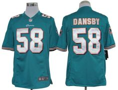 2012 Nike NFL Miami Dolphins 58 Karlos Dansby Green Limited Jerseys