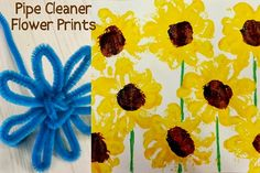 pipe cleaner sunflower craft