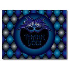 Sapphire Blue, Masquerade Thank You Cards