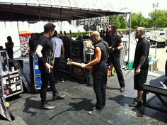 Trivium...moments before they unleashed it.  Great band; better guys...